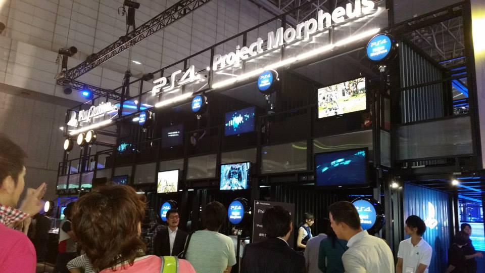 Project Morpheus (VR จากฝั่ง Sony) ก็มาให้ได้ลองกันในงานนี้ด้วย