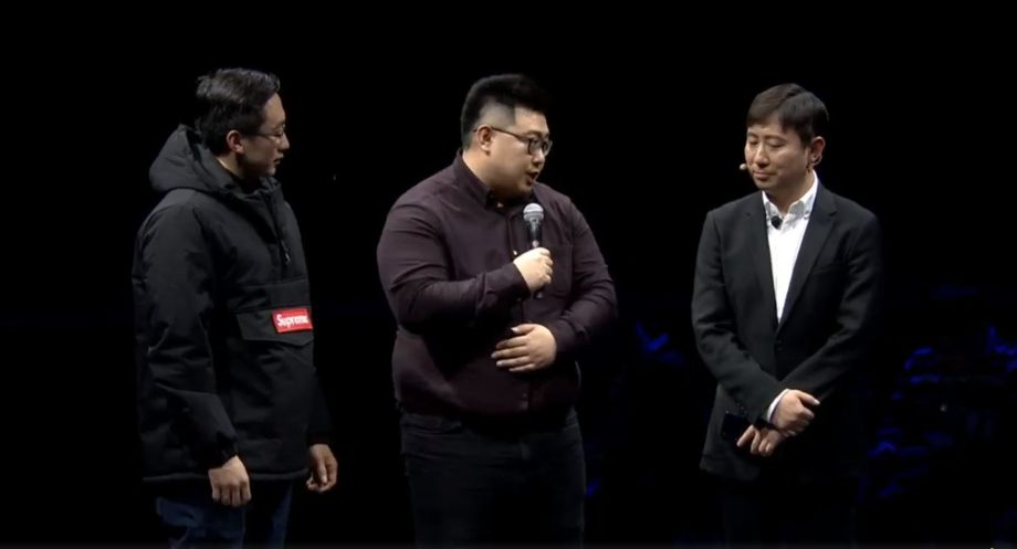 The two CEOs of the fake Supreme were ushered onstage with confidence during a product launch today.